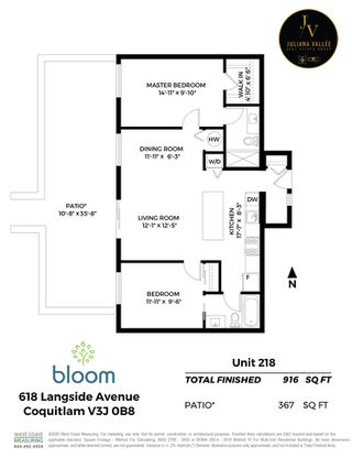 """Photo 19: 218 618 LANGSIDE Avenue in Coquitlam: Coquitlam West Townhouse for sale in """"The Bloom"""" : MLS®# R2498567"""