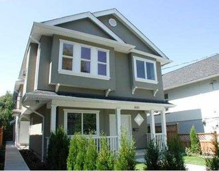 Main Photo: 3049 VICTORIA Drive in Vancouver: Renfrew Heights House 1/2 Duplex for sale (Vancouver East)  : MLS®# V606432