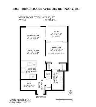 Photo 17: 503 2008 Rosser Ave in Burnaby: Brentwood Park Condo for sale (Burnaby North)  : MLS®# R2516630