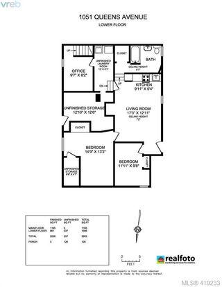 Photo 27: 1051 Queens Avenue in VICTORIA: Vi Central Park Half Duplex for sale (Victoria)  : MLS®# 419233