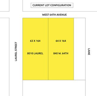 Photo 1: 840 W 64TH Avenue in Vancouver: Marpole Land for sale (Vancouver West)  : MLS®# R2440555