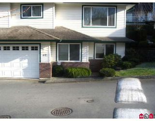 "Photo 1: 69 34250 HAZELWOOD Avenue in Abbotsford: Central Abbotsford Townhouse for sale in ""STILL CREEK"" : MLS®# F2729628"