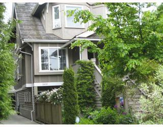 Photo 1: 2610 W 1ST Avenue in Vancouver: Kitsilano Townhouse for sale (Vancouver West)  : MLS®# V715247