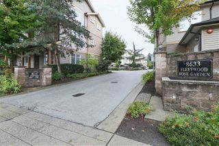 "Main Photo: 21 8633 159TH Street in Surrey: Fleetwood Tynehead Townhouse for sale in ""FLEETWOOD ROSE GARDEN"" : MLS®# R2409171"