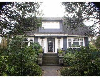 Main Photo: 1874 W 16 in VANCOUVER: Shaughnessy House for sale (Vancouver West)  : MLS®# V810574