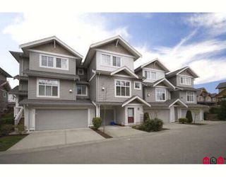 "Photo 1: 49 16760 61ST Avenue in Surrey: Cloverdale BC Townhouse for sale in ""Harvest Landing"" (Cloverdale)  : MLS®# F2810473"