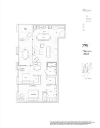 """Photo 18: 3402 1550 ALBERNI Street in Vancouver: West End VW Condo for sale in """"ALBERNI BY KENGO KUMA"""" (Vancouver West)  : MLS®# R2509428"""