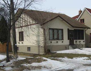 Main Photo: 160 Sherburn St./ Wolseley in Winnipeg: West End / Wolseley Single Family Detached for sale ()