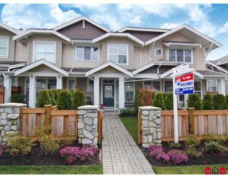 """Photo 1: 4 20460 66TH Avenue in Langley: Willoughby Heights Townhouse for sale in """"Willow Edge"""" : MLS®# F2808109"""