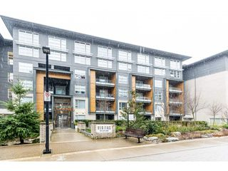 "Photo 1: 101 9168 SLOPES Mews in Burnaby: Simon Fraser Univer. Condo for sale in ""VERITAS BY POLYGON"" (Burnaby North)  : MLS®# R2443492"