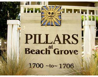 "Photo 1: 107 1702 56TH Street in Tsawwassen: Beach Grove Townhouse for sale in ""THE PILLARS"" : MLS®# V677886"