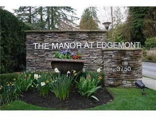 Photo 1: 12 3750 EDGEMONT Blvd in North Vancouver: Home for sale : MLS®# V872866