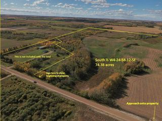 Photo 1: RR 240 betw Twp 580 & Twp 582 (south 1/2): Rural Sturgeon County Rural Land/Vacant Lot for sale : MLS®# E4216489
