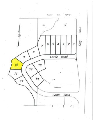 "Main Photo: LOT 10 CASTLE Road in Gibsons: Gibsons & Area Land for sale in ""KING & CASTLE"" (Sunshine Coast)  : MLS®# R2422438"