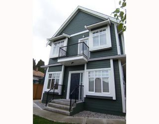 Photo 1: 1783 E 15TH Avenue in Vancouver: Grandview VE House 1/2 Duplex for sale (Vancouver East)  : MLS®# V688271