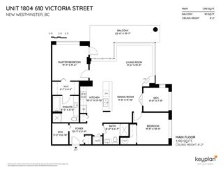 """Photo 17: 1804 610 VICTORIA Street in New Westminster: Downtown NW Condo for sale in """"The Point"""" : MLS®# R2398304"""