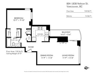 Photo 19: 804 1838 NELSON STREET in Vancouver: West End VW Condo for sale (Vancouver West)  : MLS®# R2473564