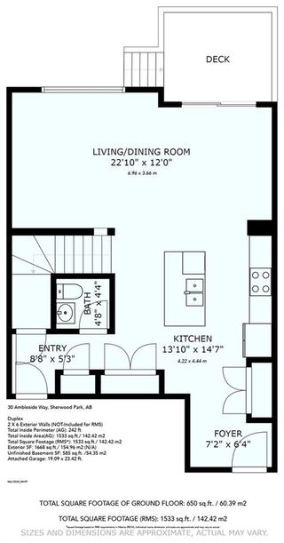 Photo 37: 30 AMBLESIDE Way: Sherwood Park House Half Duplex for sale : MLS®# E4190448