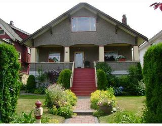 Photo 1: 2616 TRINITY Street in Vancouver: Hastings East House for sale (Vancouver East)  : MLS®# V723112