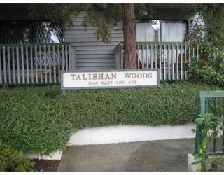 """Photo 1: 217 1545 E 2ND Avenue in Vancouver: Grandview VE Condo for sale in """"TALISHAN WOODS"""" (Vancouver East)  : MLS®# V725849"""