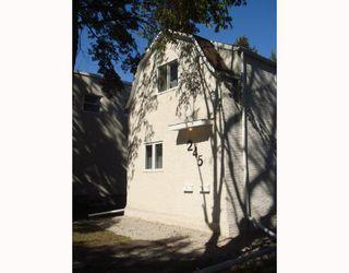 Photo 1: 245 BERTRAND Street in WINNIPEG: St Boniface Duplex for sale (South East Winnipeg)  : MLS®# 2716492