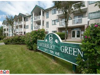 "Photo 1: 218 13911 70TH Avenue in Surrey: East Newton Condo for sale in ""CANTERBURY GREEN"" : MLS®# F1018372"