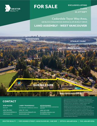 Main Photo: 4 Lot Land Assembly Listing in West Vancouver