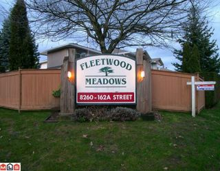"Photo 1: 304 8260 162A Street in Surrey: Fleetwood Tynehead Townhouse for sale in ""FLEETWOOD MEADOWS"" : MLS®# F1003614"