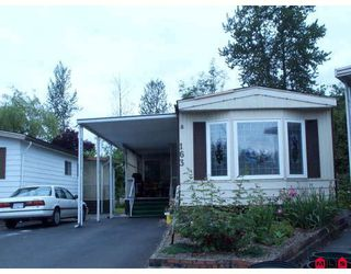 "Photo 1: 163 3665 244TH Street in Langley: Otter District Manufactured Home for sale in ""Langley Grove Estates"" : MLS®# F2819188"