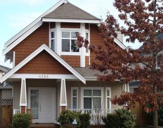 """Photo 1: 4588 BLAIR Drive in Richmond: West Cambie House for sale in """"WILLOW GREEN"""""""
