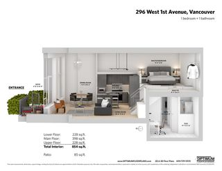 """Photo 20: 296 W 1ST Avenue in Vancouver: False Creek Townhouse for sale in """"The James"""" (Vancouver West)  : MLS®# R2406593"""