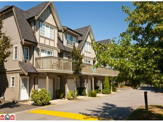 "Photo 1: 62 8775 161ST Street in Surrey: Fleetwood Tynehead Townhouse for sale in ""Ballantyne"" : MLS®# F1021656"