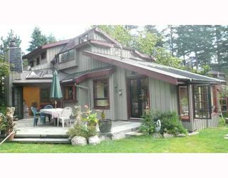 "Photo 1: 1100 LENORA Road: Bowen Island House for sale in ""DEEP BAY"" : MLS®# V781428"