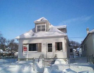 Main Photo: 493 ABERDEEN Avenue in WINNIPEG: North End Single Family Detached for sale (North West Winnipeg)  : MLS®# 2500354