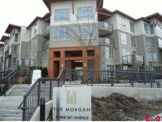 "Photo 1: 125 15988 26TH Avenue in Surrey: Grandview Surrey Condo for sale in ""THE MORGAN"" (South Surrey White Rock)  : MLS®# F1102404"