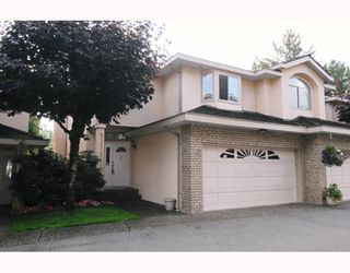 """Photo 1: 47 22488 116TH Avenue in Maple Ridge: East Central Townhouse for sale in """"RICHMOND HILL ESTATES"""" : MLS®# V780986"""