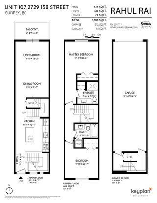 "Photo 2: 107 2729 158 Street in Surrey: Grandview Surrey Townhouse for sale in ""Kaleden"" (South Surrey White Rock)  : MLS®# R2427201"