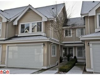 "Photo 1: 34 17097 64TH Avenue in Surrey: Cloverdale BC Townhouse for sale in ""Kentucky"" (Cloverdale)  : MLS®# F1100822"
