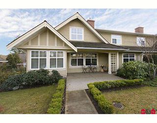 """Photo 1: 1 15450 ROSEMARY Crescent in Surrey: Morgan Creek Townhouse for sale in """"THE CARRINGTON"""" (South Surrey White Rock)  : MLS®# F2902456"""