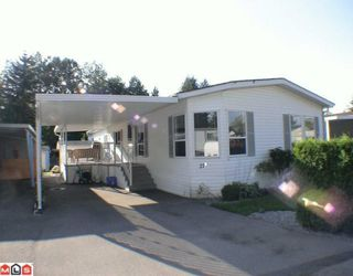"Photo 1: 27A 24330 FRASER Highway in Langley: Otter District Manufactured Home for sale in ""LANGLEY GROVE ESTATES"" : MLS®# F1002102"