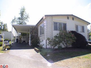 "Photo 1: 195 3665 244 Street in Langley: Otter District Manufactured Home for sale in ""Langley Grove Estates"" : MLS®# F1101303"