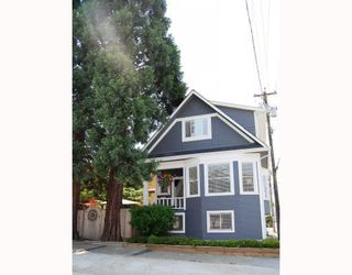 Photo 1: 2227 ALBERTA Street in Vancouver: Mount Pleasant VW House for sale (Vancouver West)  : MLS®# V771743