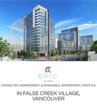 "Main Photo: 906 1788 COLUMBIA Street in Vancouver: False Creek Condo for sale in ""EPIC"" (Vancouver West)  : MLS®# R2509215"
