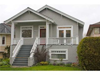 Photo 1: 4325 W 15TH Avenue in Vancouver: Point Grey House for sale (Vancouver West)  : MLS®# V825470