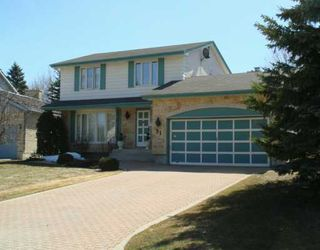 Photo 1: 31 KILMARNOCK Bay in WINNIPEG: St Vital Single Family Detached for sale (South East Winnipeg)  : MLS®# 2705907