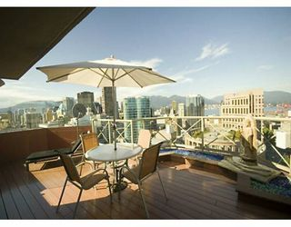 """Photo 8: PH 4 867 HAMILTON ST in Vancouver: Downtown VW Condo for sale in """"JARDINE'S LOOKOUT"""" (Vancouver West)  : MLS®# V601109"""