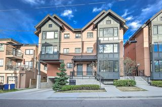 Photo 1: 102 1818 14A Street SW in Calgary: Bankview Row/Townhouse for sale : MLS®# A1058072
