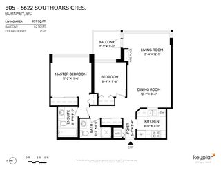 """Photo 22: 805 6622 SOUTHOAKS Crescent in Burnaby: Highgate Condo for sale in """"The Gibraltar"""" (Burnaby South)  : MLS®# R2488698"""
