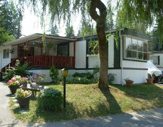 "Photo 1: 57 3295 SUNNYSIDE Road: Anmore Manufactured Home for sale in ""COUNTRYSIDE VILLAGE"" (Port Moody)  : MLS®# V803789"