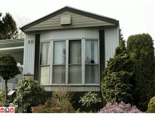 """Photo 1: 94 15875 20TH Avenue in Surrey: King George Corridor Manufactured Home for sale in """"SEARIDGE BAYS"""" (South Surrey White Rock)  : MLS®# F1007070"""